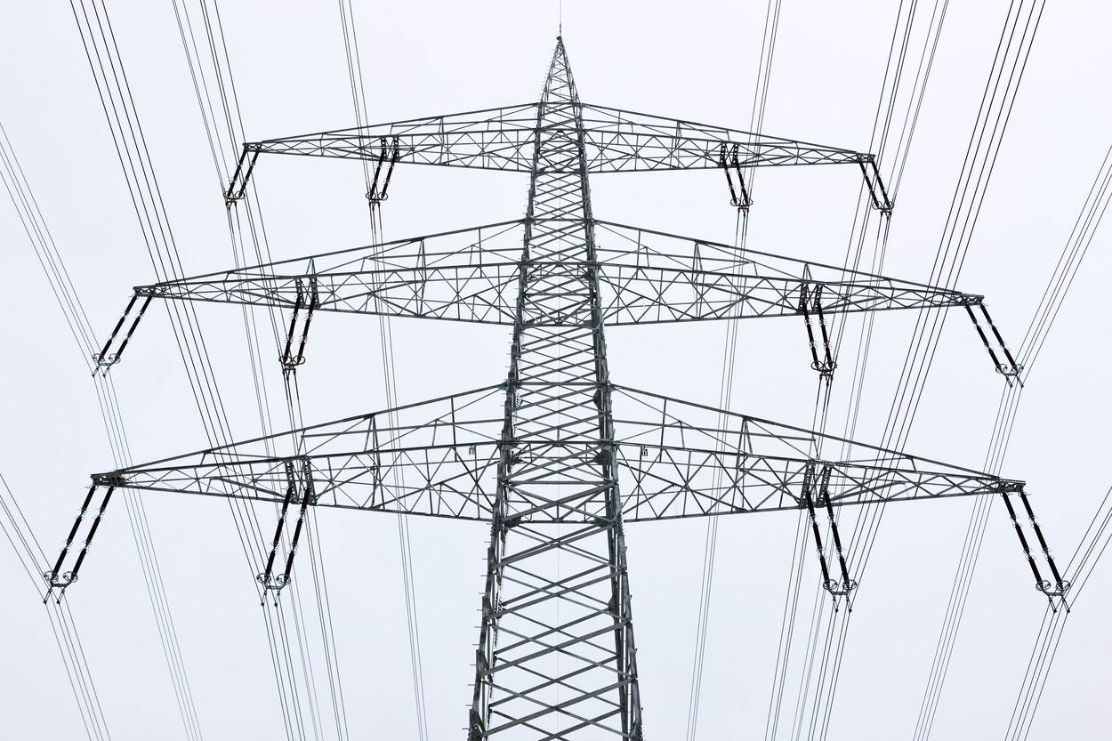 connections;day;electrical tower;electricity;energy;germany;low angle view;nobody;one object;outdoors;power concept;power line