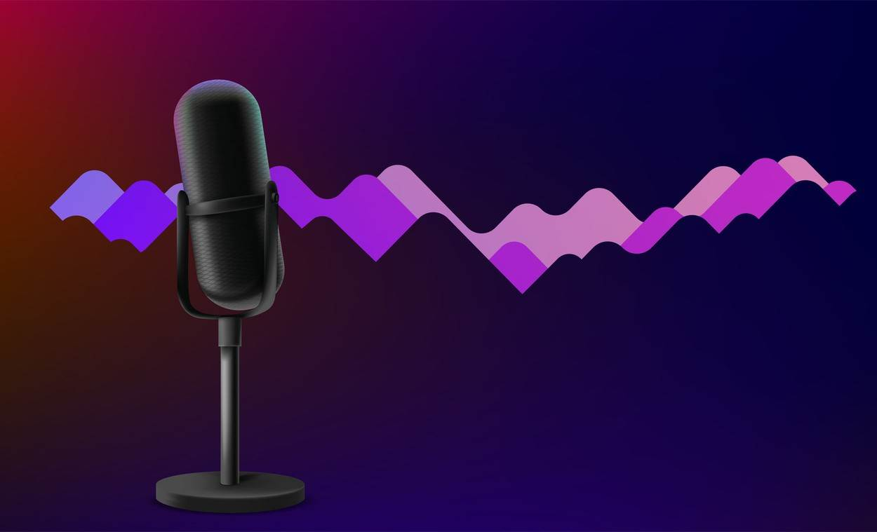 abstract;air;audio;banner;broadcast;concept;entertainment;eq;equalizer;interview;mic;microphone;music;podcast;radio;song;sound;voice;wave