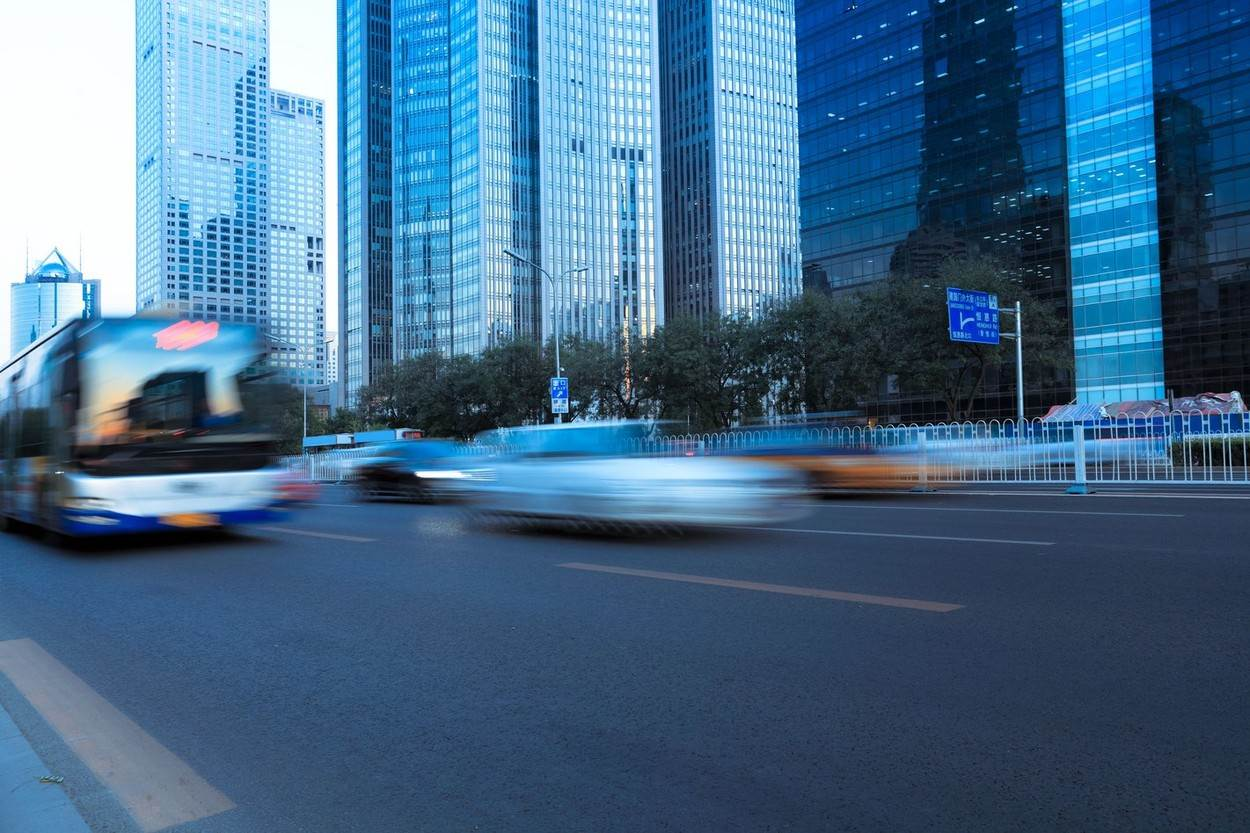 blur;china;city;modern;motion;street;vehicle;with;NOT_EDITORIAL_ONLY