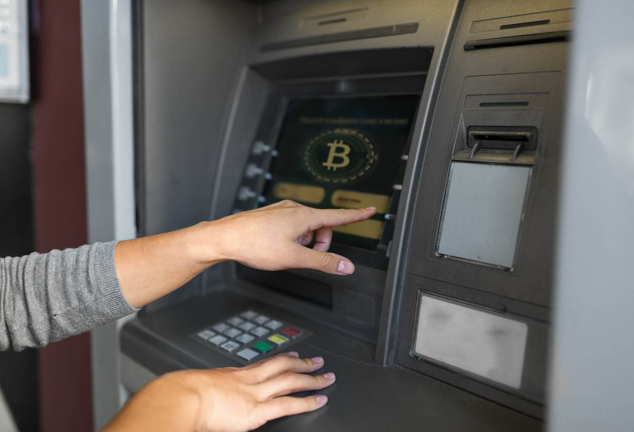 account;atm;automated;automatic;bank;banking;bitcoin;blockchain;btc;button;cgi;choosing;closeup;concept;crypto;cryptocurrency;cryptography;currency;customer;deposit;digital;economic;economy;electronic;emoney;exchange;female;finance;financial;fintech;futuristic;hand;machine;money;operation;option;person;screen;system;technology;terminal;transaction;transfer;virtual;web;withdraw;withdrawal;withdrawing;woman;young