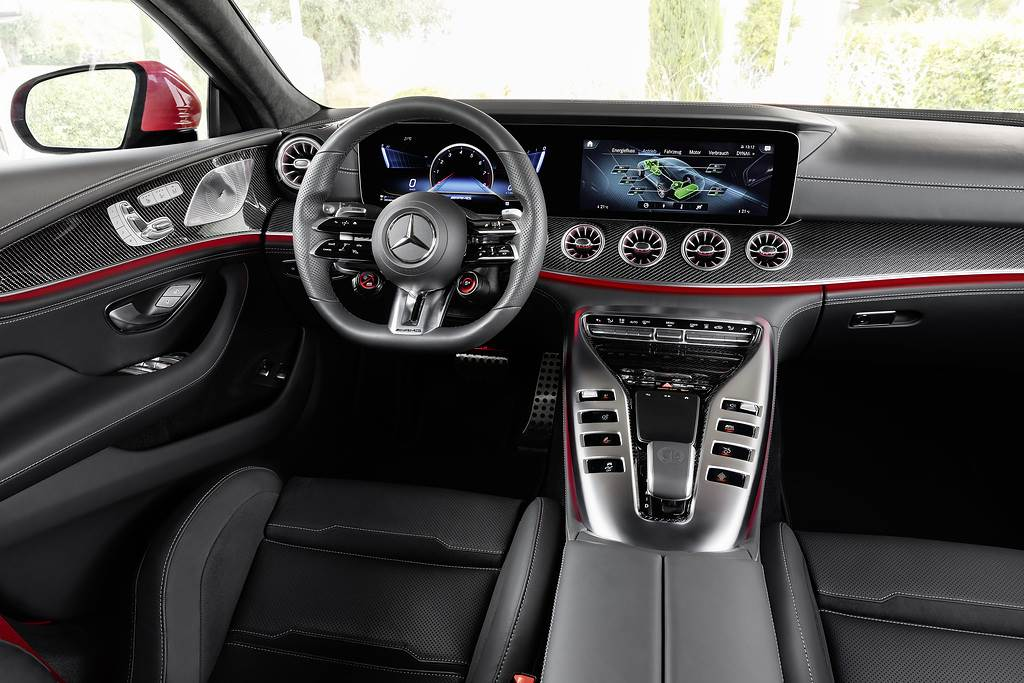 Mercedes-Benz Cars;World premiere of the first performance hybrid from Mercedes-AMG;Daimler Global MediaSite;Interior;AMG GT 4-Door Coupé;MediaSite;Brands & Products;09 - 2021;Mercedes-AMG;2021;Press Releases sorted by years