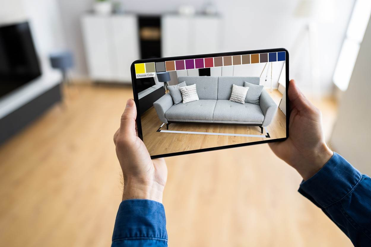 online;shopping;ecommerce;mobile;shop;designer;smartphone;ar;phone;concept;furniture;application;virtual;3d;room;augmented;house;smart;man;office;app;living;reality;hand;future;cellphone;sofa;men;interior;design;holding;placing;vr;interactive;technology;apartment;young;male;futuristic;caucasian;m-commerce;simulate