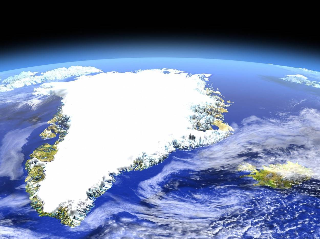 3D render;Earth;Europe;Greenland;Iceland;astronomy;globe;illustration;map;north Atlantic;orbit;orbiting;planet;realistic;region;satellite;science;space;weather;alamyunknown;NOT_EDITORIAL_ONLY